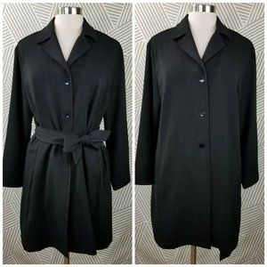 Chicos Jackets Size 2 Large Long Belted trench